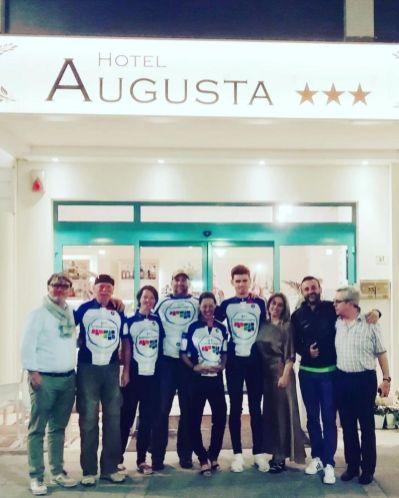 "Die Teilnehmer des ""Cycling Press Trip Granfondo Marco Pantani 2019"""