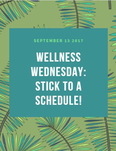 stick to a schedule