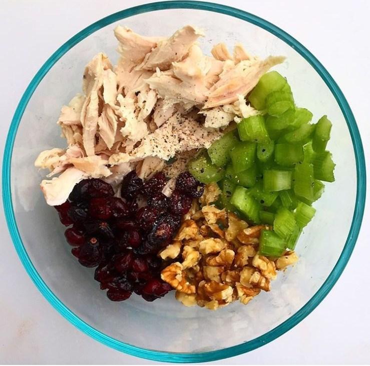 Thanksgiving Leftover Turkey Cranberry Salad
