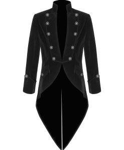 Tail coat Jacket Black Velvet Goth Steampunk Victorian, Gothic Clothing, Velvet Jackets, Best Jackets for Men