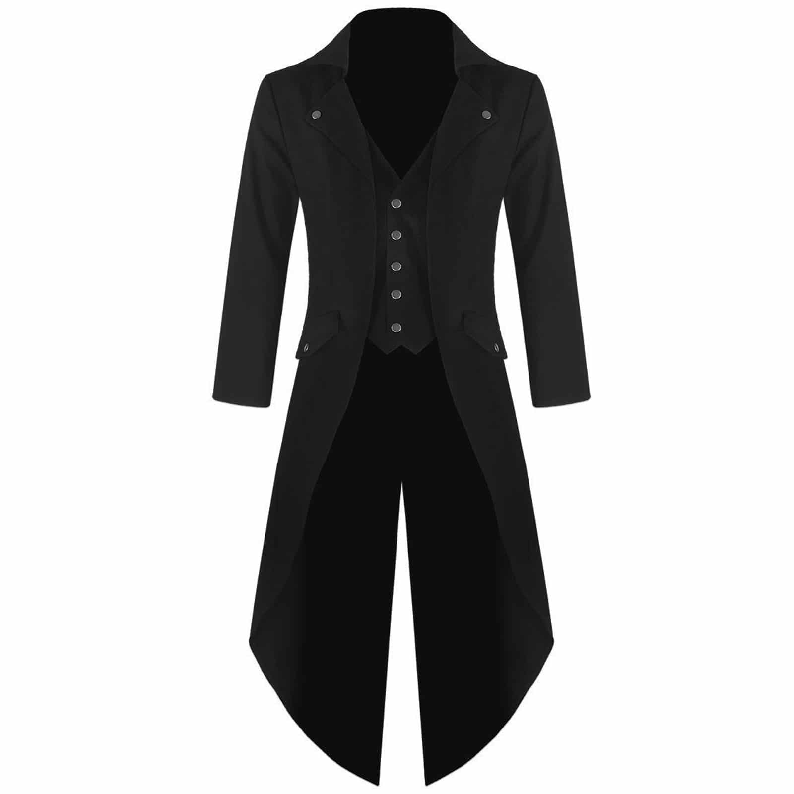 Steampunk Tailcoat Jacket Gothic Jackets For Men Best Clothing