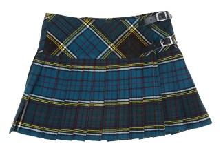 Anderson Homespun Kilted Mini Skirt