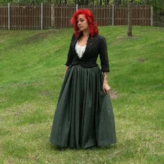 Full Length 11oz Premium Wool Gathered Skirt