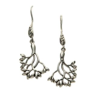 Large Sterling Silver Tree of Life Earrings