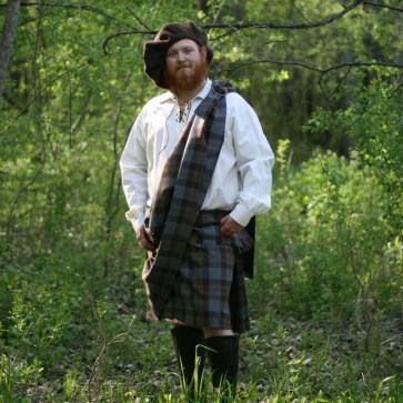 OUTLANDER Ancient Kilt Authentic Premium Wool Tartan