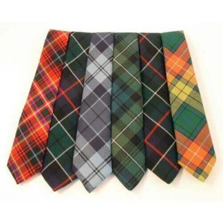 Tartan Neck Ties, Medium Weight, Old and Rare