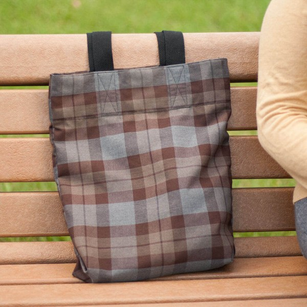 Medium Weight Poly/Viscose Tartan Tote Bag