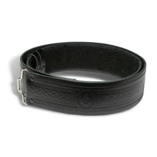 Quality Embossed Masonic Kilt Belt