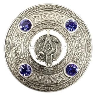 Masonic Plaid Brooch