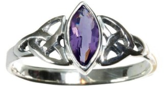 Purple Triskle Ring