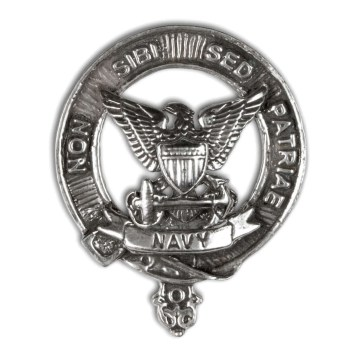 U.S. Navy Pewter Cap Badge/Brooch