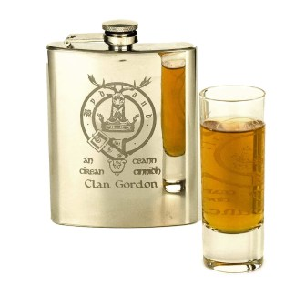 Polished Stainless Steel Clan Crest Flask