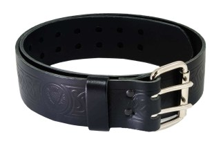 Thistle Embossed Double Prong Utility Belt and Buckle