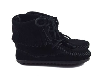 Black Suede Kids' Ankle Boots