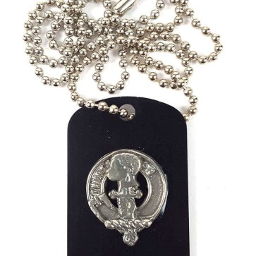 MacLellan Crest Dog Tag Necklace