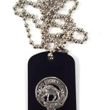 Weir Clan Crest Dog Tag Necklace