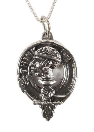 MacLellan Silver Clan Crest Necklace