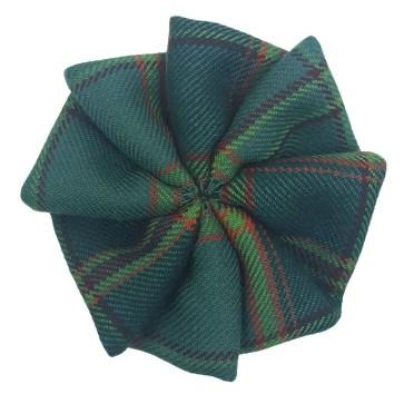 All Ireland Green Tartan Rosette