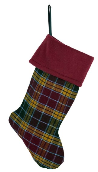 Fleece Topped Homespun Tartan Stocking