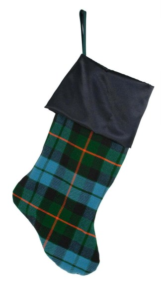 Satin Topped Homespun Tartan Stocking