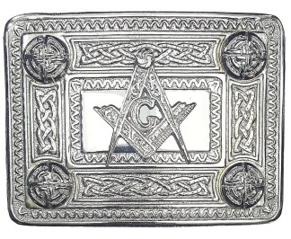 Masonic Celtic Knot Kilt Belt Buckle