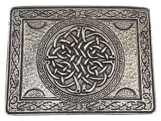 Celtic Knot Pewter Kilt Belt Buckle