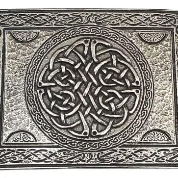 Celtic Knot Pewter Kilt Belt Buckle