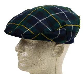 Tartan Driving Cap or Golf Cap - Light Weight