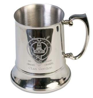 Engraved Clan Crest Tankard