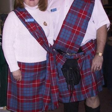 Poly Viscose Deep Pleated Ladies' Kilted Skirt