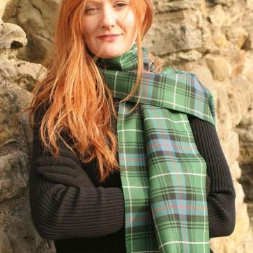Light Weight Premium Wool Tartan Scarf