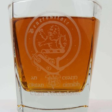 Nicholson Clan Crest Whisky Glass