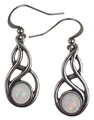 Celtic Knot Opal Earrings