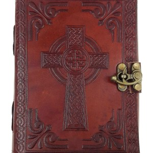 Leather-Bound Celtic Cross Journal