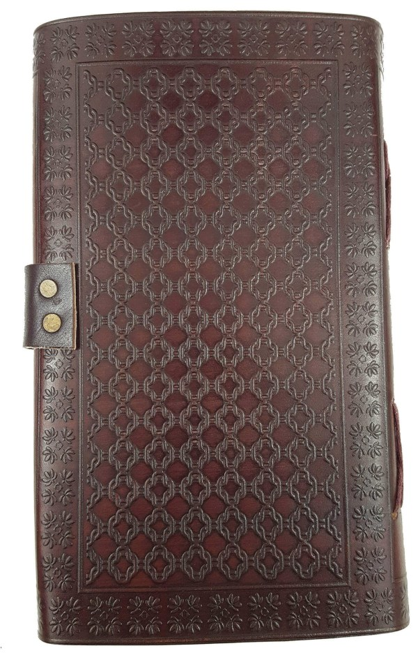 Tall Leather-Bound Trinity Knot Journal