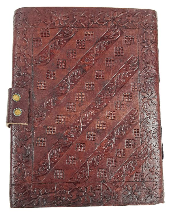 Leather-Bound Celtic Roots Journal
