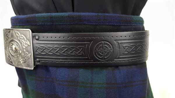 Quality Embossed Leather Kilt Belt