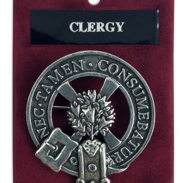 Clergy Clan Crest Cap Badge Brooch