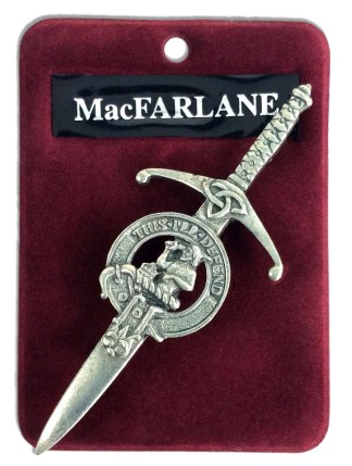 Antiqued Pewter Clan Crest Kilt Pin