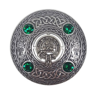 ACCPB-IS-1783 Fraser Clan Crest Plaid Brooch