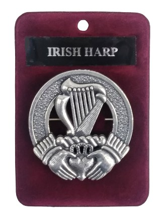 Irish Harp Cap Badge/Brooch