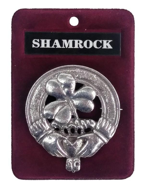 Shamrock Cap Badge/Brooch