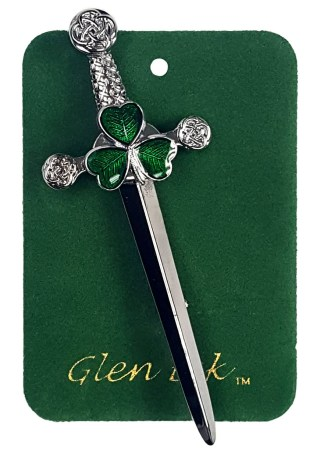 Irish Shamrock Kilt Pin