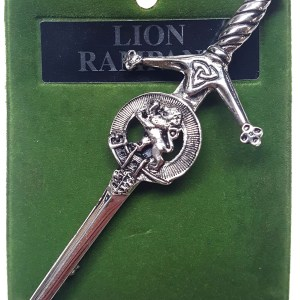 Art Pewter Rampant Lion Kilt Pin