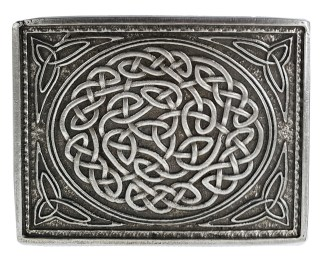 Celtic Knot Double Prong Belt Buckle