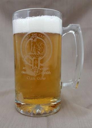 Gow Clan Crest 26 oz. Beer Mug