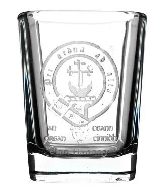 CCT04-CL-1754 Hannay Clan Crest Shot Glass