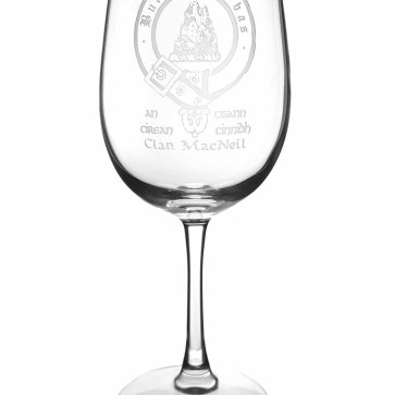 CCT08-IS-1777 MacNeil Clan Crest Wine Glass