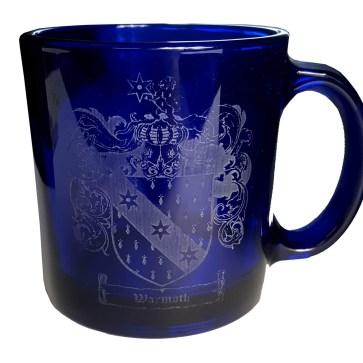 CCT21-CL-1774 Warmoth Coat of Arms Blue Mug