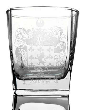 COA-CL-1747 Gallagher Coat of Arms Whisky Glass